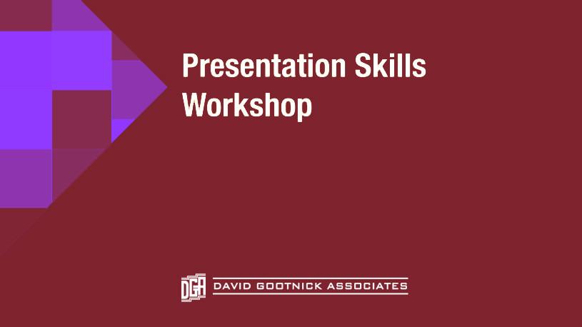 presentation course